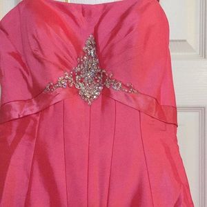 Night Moves Dresses - Night Moves coral corset taffeta prom pageant